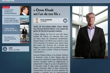 « OMAR KHADR EST L'UN DE NOS FILS »